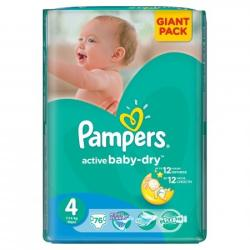 Pampers Active Baby-Dry 4 Maxi (7-14kg) 76db