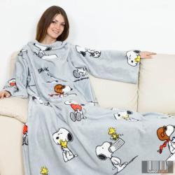 Kanguru Deluxe Snoopy ujjas és zsebes pléd (1124)