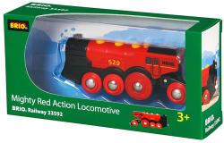 BRIO Piros Action lokomotív (33592)