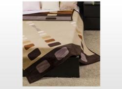 Naturtex Modern barna mintás pléd 150x200cm