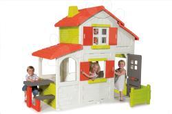 Smoby Duplex 2 emeletes játszóház előkerttel és csengővel (320023)