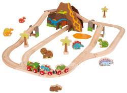 Bigjigs Toys Dinoszaurusz vonat szett