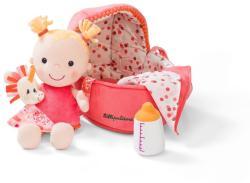 Lilliputiens Louise baba pelenkával, cumival és mózeskosárral