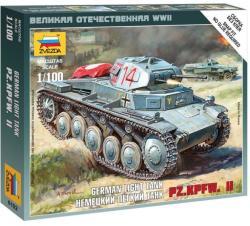 Zvezda German Light Tank Pz Kpfw II 1/100 6102