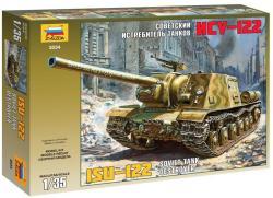 Zvezda ISU-122 Soviet Tank 1/35 3534