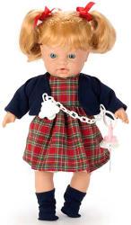 Falca Toys Síró lány baba skót-kockás ruhában - 35 cm