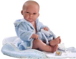 Llorens Újszülött fiú baba kék köntösben - 35 cm