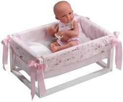 Llorens Újszülött baba bölcsővel - 35 cm