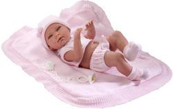 Llorens Újszülött lány baba takaróval - 38 cm