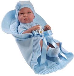 Llorens Újszülött fiú baba kék ruhában - 43 cm