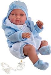 Llorens Újszülött baba kék ruhában - 43 cm