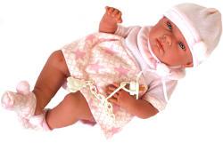 Llorens Újszülött lány baba csillagos ruhában - 38 cm