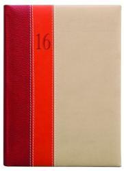 TopTimer Fashion zsebnaptár, álló elrendezésű, bordó-narancs-bézs (NKF035BONBE)