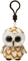 TY Inc Beanie Boos Clip: Swoops - Baby bufnita maro 8,5cm (TY36595)