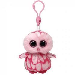 TY Inc Beanie Boos Clip: Pinky - Baby bufnita roz 8,5cm (TY36594)