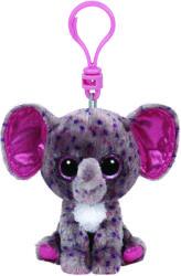 TY Inc Beanie Boos Clip: Specks - Baby elefant mov-gri 8,5cm (TY36617)