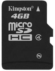 Kingston MicroSDHC 4GB Class 4 SDC4/4GB