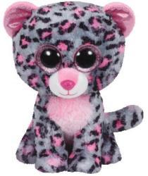 TY Inc Beanie Boos: Tasha - Baby leopard gri-roz 15cm (TY36151)