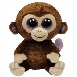 TY Inc Beanie Boos: Coconut - Baby maimuta maro 15cm (TY36003)