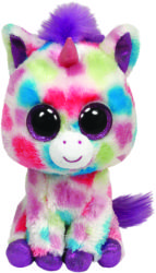TY Inc Beanie Boos: Wishful - Baby unicorn colorat 24cm (TY36982)