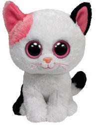TY Inc Beanie Boos: Muffin - Baby pisica alba 24cm (TY36986)