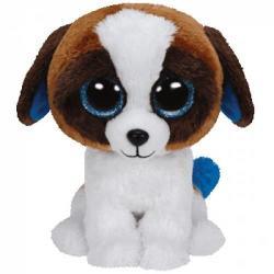 TY Inc Beanie Boos: Duke - Baby catelus alb-maro 24cm (TY37012)