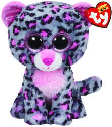 TY Inc Beanie Boos: Tasha - Baby leopard gri-roz 24cm (TY37038)
