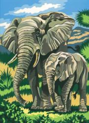 Reeves Festés számok után - Elefántok