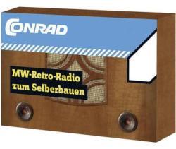 Conrad Középhullámú retro rádió építőkészlet, MW/AM