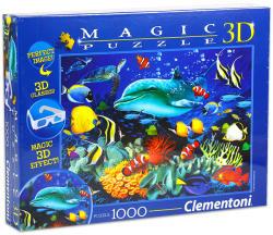 Clementoni 3D puzzle szemüveggel - Delfin a zátonynál 1000 db-os (39186)