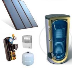 Napcsap 4-6 fő részére napkollektor rendszer: 3 db sikkollektor, 300 literes 2 hőcserélős álló bojler, szivattyú állomás, vezérlés, tágulási tartály (NAPKOLLEKTOR_SZETT_3SIK_300L-2HCS--4602)