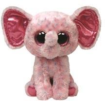 TY Inc Beanie Boos - Ellie, a rózsaszín foltos elefánt 24cm