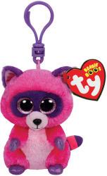 TY Inc Beanie Boos Clip - Roxie, a pink mosómedve 8,5cm (TY36614)