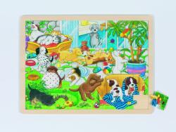 Goki Állatkölykök fa puzzle