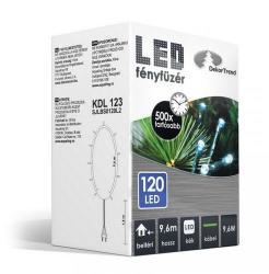 DekorTrend 9.6m-es, 120 LED-es fényfüzér - kék (KDL 123)