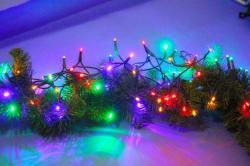 DekorTrend 3.2m-es, 40 LED-es fényfüzér - színes (KDL 045)