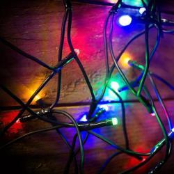 DekorTrend 13m-es, 180 LED-es fényfüzér - színes (KDL 185)
