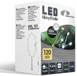 DekorTrend 9.6m-es, 120 LED-es fényfüzér - melegfehér (KDL 121)