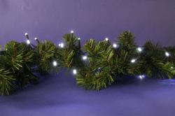 DekorTrend 6.4m-es, 80 LED-es fényfüzér - hidegfehér (KDL 082)