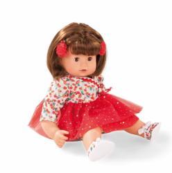 Götz Maxy Muffin baba csillogós tüllben, barna hajú, barna szemű - 42 cm