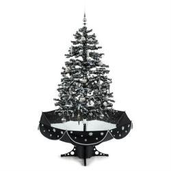 oneConcept Everwhite karácsonyfa 180cm - hóhullás hatás, LED, fekete