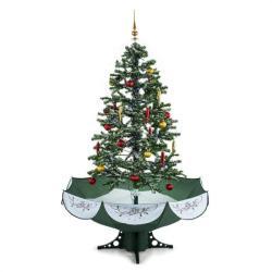 oneConcept Everwhite karácsonyfa 180cm - hóhullás hatás, LED, zöld