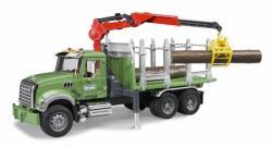 BRUDER Camion forestier cu macara MACK (2824)