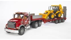 BRUDER Camion MACK Granite cu remorca si excavator (2813)