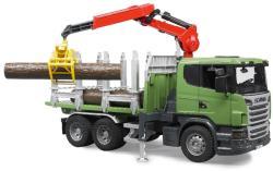 BRUDER Camion forestier Scania cu macara (3524)