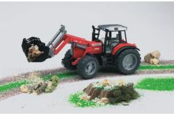 BRUDER Tractor Massey Ferguson 7480 cu incarcator (2042)