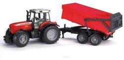 BRUDER Tractor Massey Ferguson cu remorca (2045)