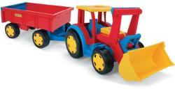 Wader Tractor gigant cu remorca si incarcator 110cm