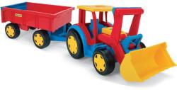 Wader Tractor gigant cu excavator si remorca (10436)