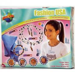 LENA Amerikai divat gyöngyfűző szett (42401)